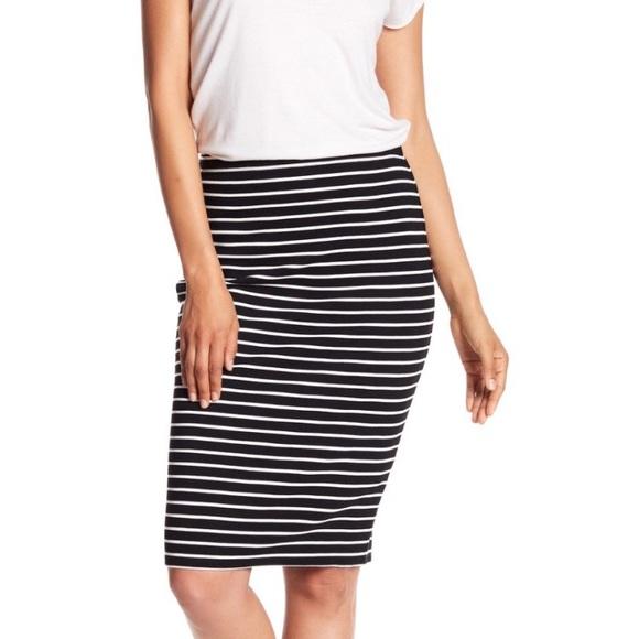 ac2e506195 Max Studio Skirts | Nwt Stripe Ottoman Pencil Skirt | Poshmark